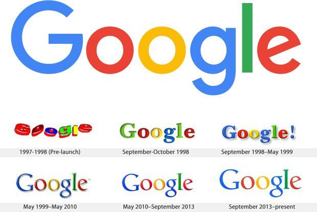 Google logo geschiedenis