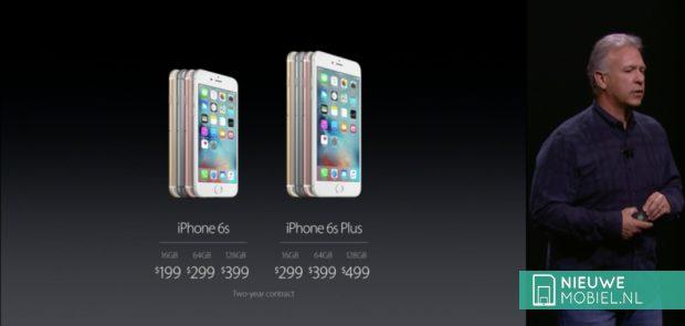 Apple iPhone 6s en 6s Plus models