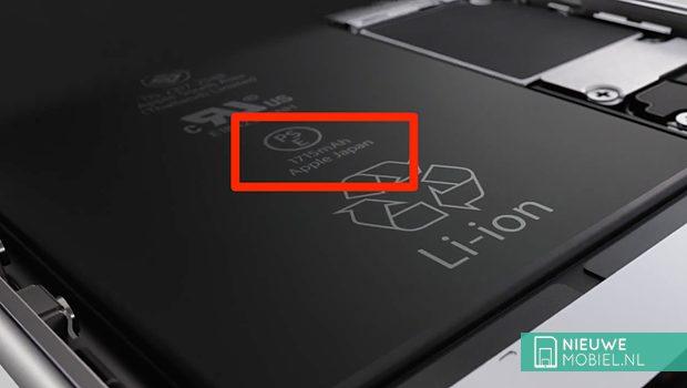 Apple iPhone 6s batterijcapaciteit