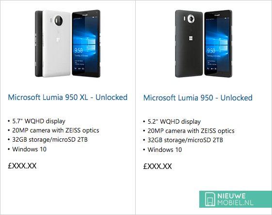 Microsoft Lumia 950 XL en de Lumia 950