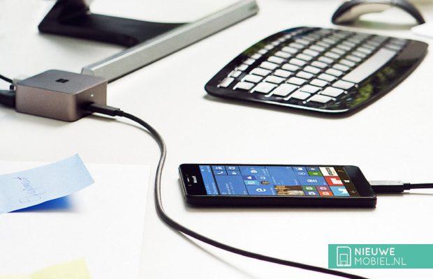 Microsoft Lumia 950 met Continuum