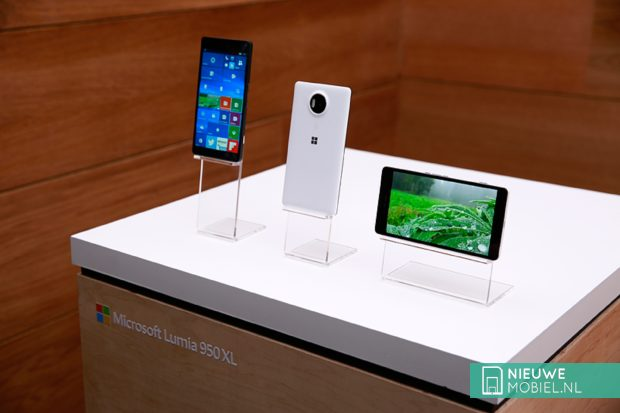 Microsoft Lumia 950 XL in de winkel