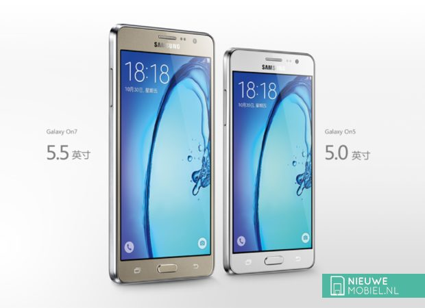 Samsung Galaxy On7 en On5
