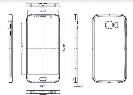 Samsung Galaxy S6 schema