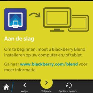 BlackBerry Blend on OS 10