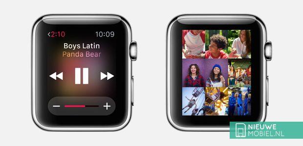 Apple Watch heeft ruimte voor 200 muziekbestanden, 100 foto's