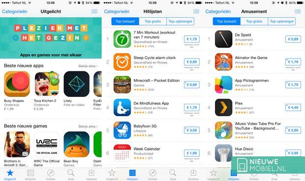 Apple verhoogt prijzen App Store, goedkoopste apps naar 99 cent