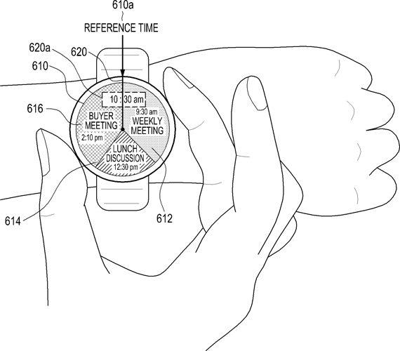 Samsung round watch patent