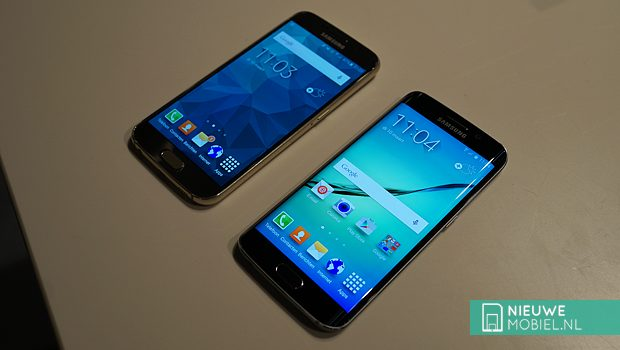 Samsung Galaxy S6 and S6 edge on table