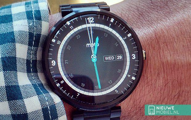 Motorola Moto 360 on wrist