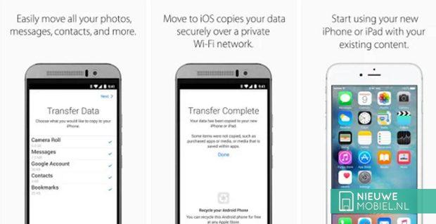 Apple werkt aan app om gebruikers van iOS naar Android te verhuizen