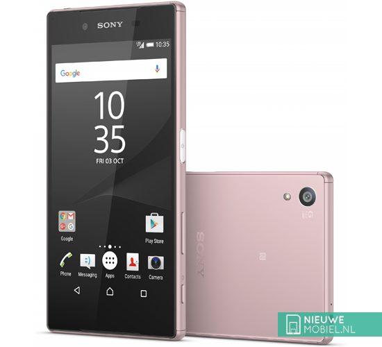 Sony Xperia Z5 voor- en achterkant roze