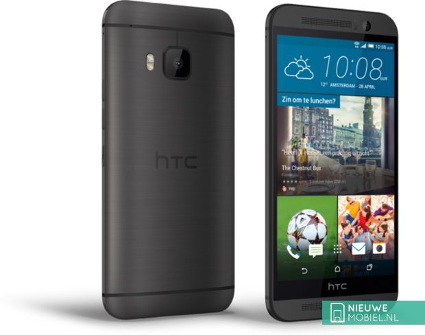 HTC One M9 Prime Camera Edition Gunmetal Grey achter- en voorkant