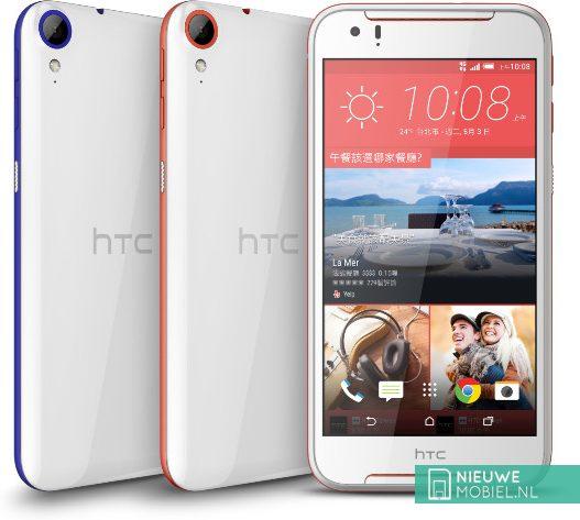 HTC Desire 830 in het blauw en rood