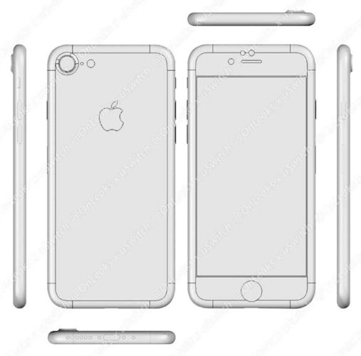 Apple iPhone 7 CAD tekeningen