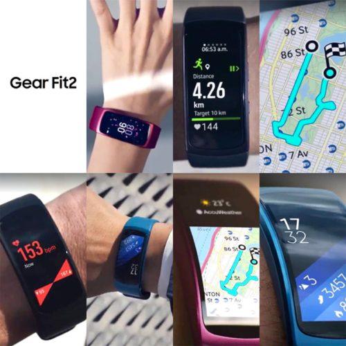 Samsung Gear Fit2 promo-materiaal