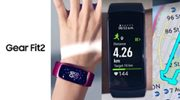 Promotiemateriaal toont gebogen Samsung Gear Fit2