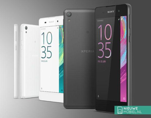 Sony Xperia E5 in het wit en zwart