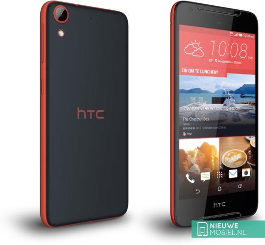 HTC Desire 628 voor- en achterkant