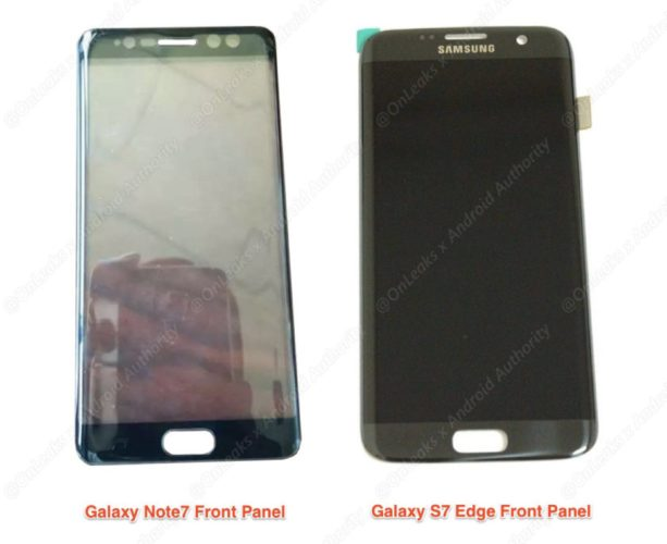 Samsung Galaxy Note 7 front paneeltje