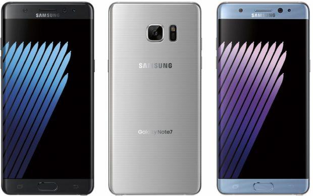 Samsung Galaxy Note 7 persrenders