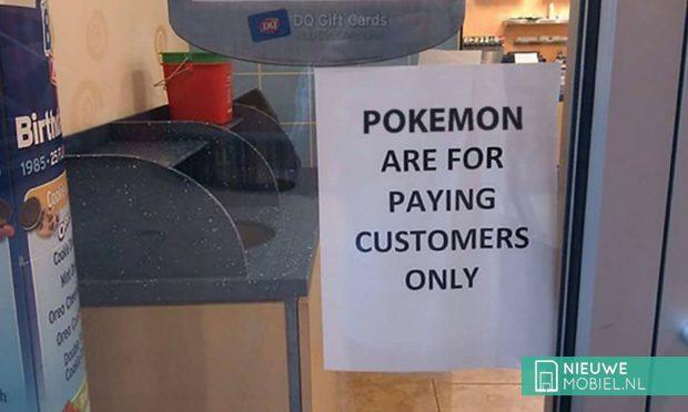 Pokemon GO alleen maar echte klanten