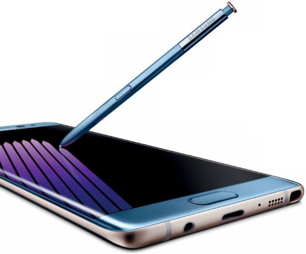 Samsung Galaxy Note 7 blauw