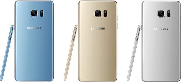 Samsung Galaxy Note 7 achterkanten
