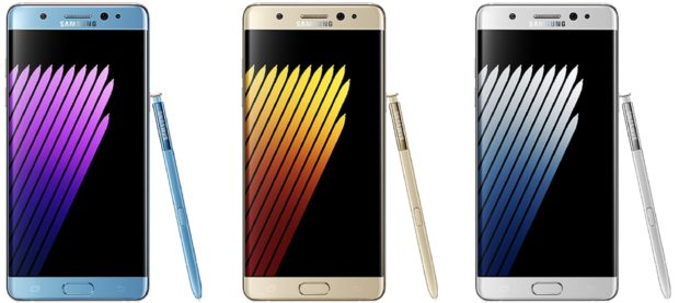 Samsung Galaxy Note 7 kleuren