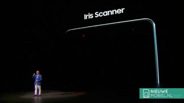 Note 7 irisscanner