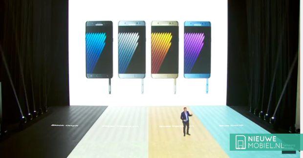 Samsung Galaxy Note 7 uitvoeringen