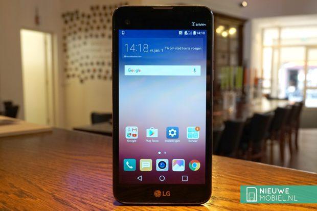 LG X screen voorzijde