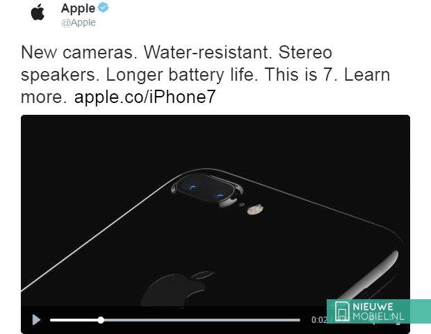 Twitter-account Apple onthult alvast waterdichte iPhone 7
