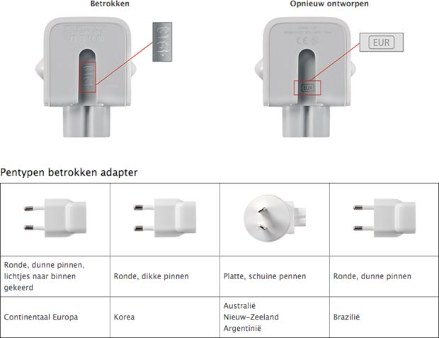 Apple lichtnetadapter omruilprogramma