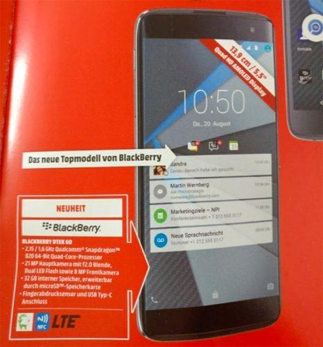 BlackBerry DTEK60 bij MediaMarkt
