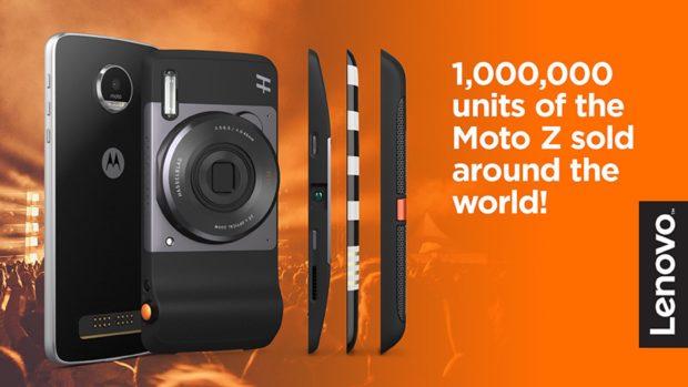 1 miljoen verkochte exemplaren Motorola Moto Z