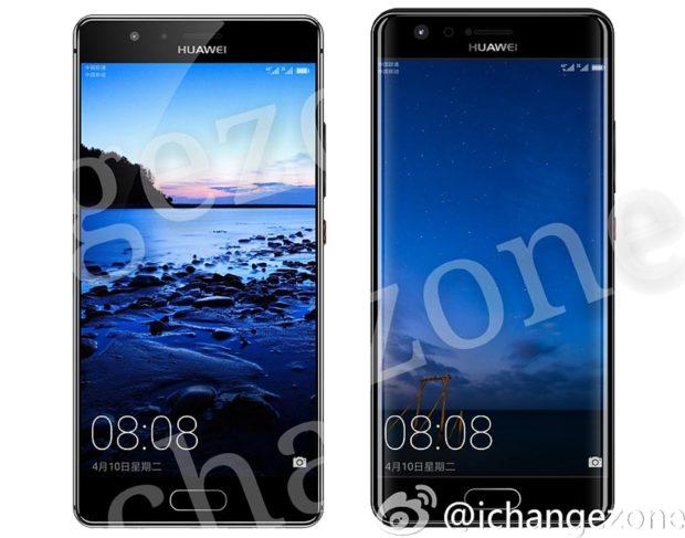 Huawei P10 plat en gebogen