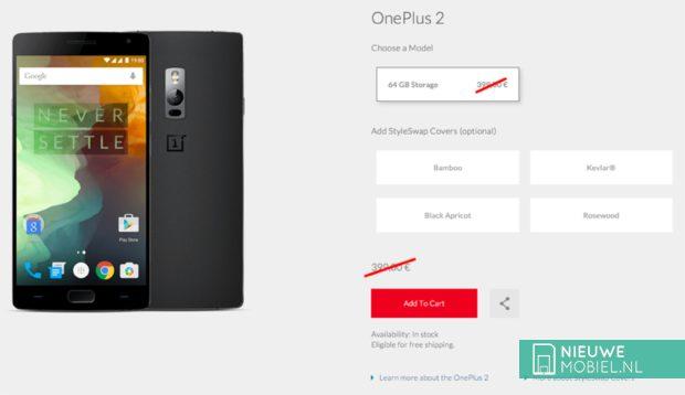 OnePlus 2 prijsverlaging