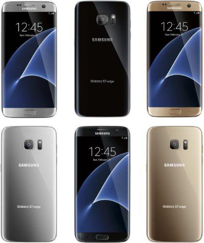 Samsung Galaxy S7 edge renders kleuren