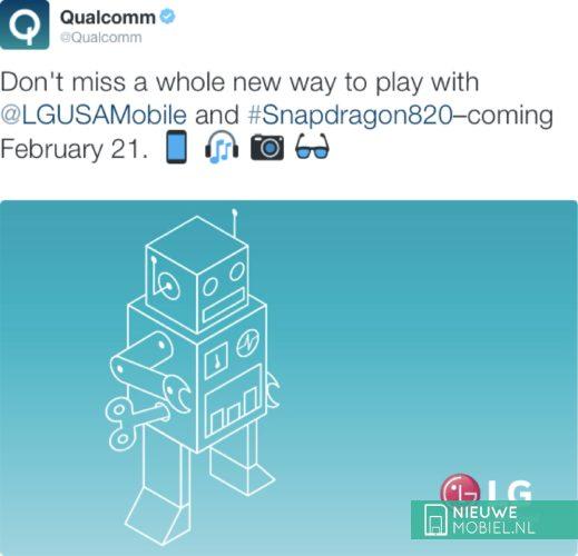 Qualcomm tweet LG G5