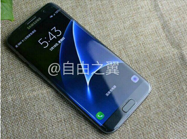 Samsung Galaxy S7 edge zwart voorkant