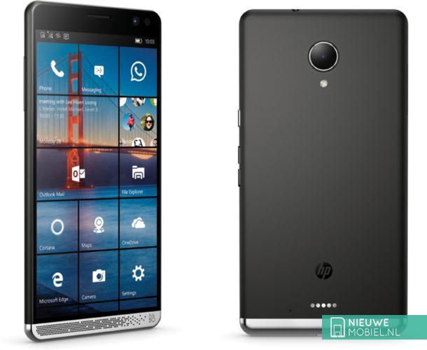 HP Elite x3 voor- en achterkant
