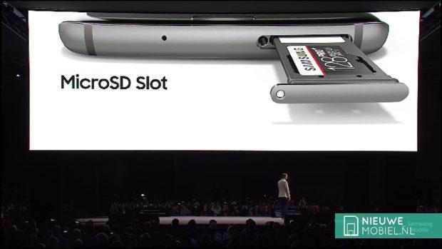 Samsung Galaxy S7 edge geheugenkaartslot