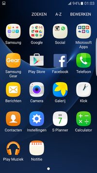 Apps Samsung Galaxy S7 edge