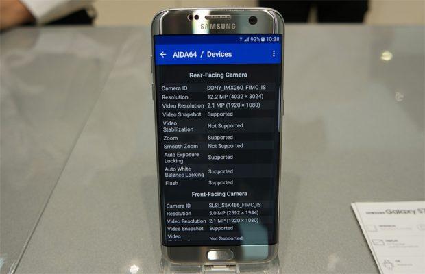 Samsung Galaxy S7 edge camerasensor