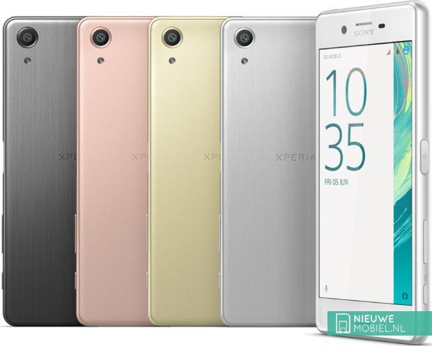 Sony Xperia X Performance kleuren