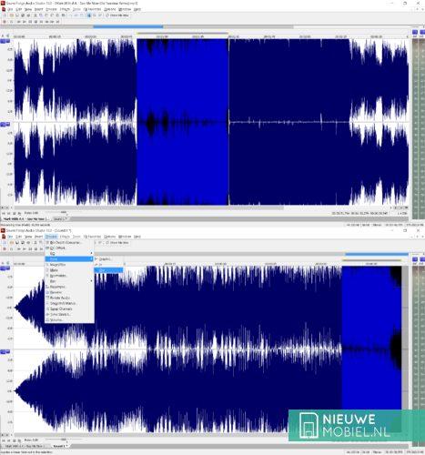 Ringtones maken in Sony Sound Forge Audio Studio
