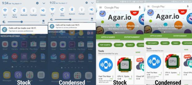 Samsung Galaxy Stock en Condensed view
