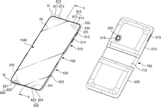 Samsung patent opvouwbaar mobieltje
