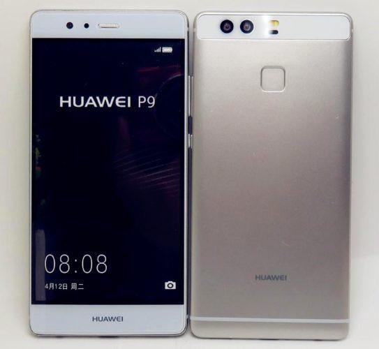 Huawei P9 voor- en achterkant